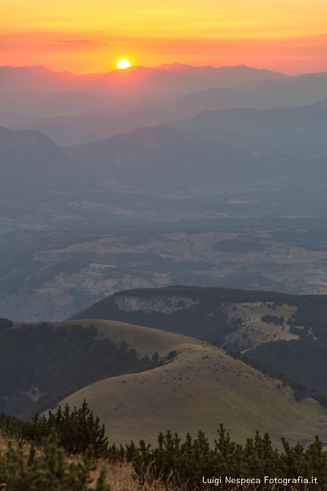 Tramonto dal Monte Blockhaus - Montagne della Majella