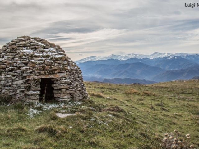Prima neve sulla caciara - Montagna dei Fiori - San Giacomo (TE)