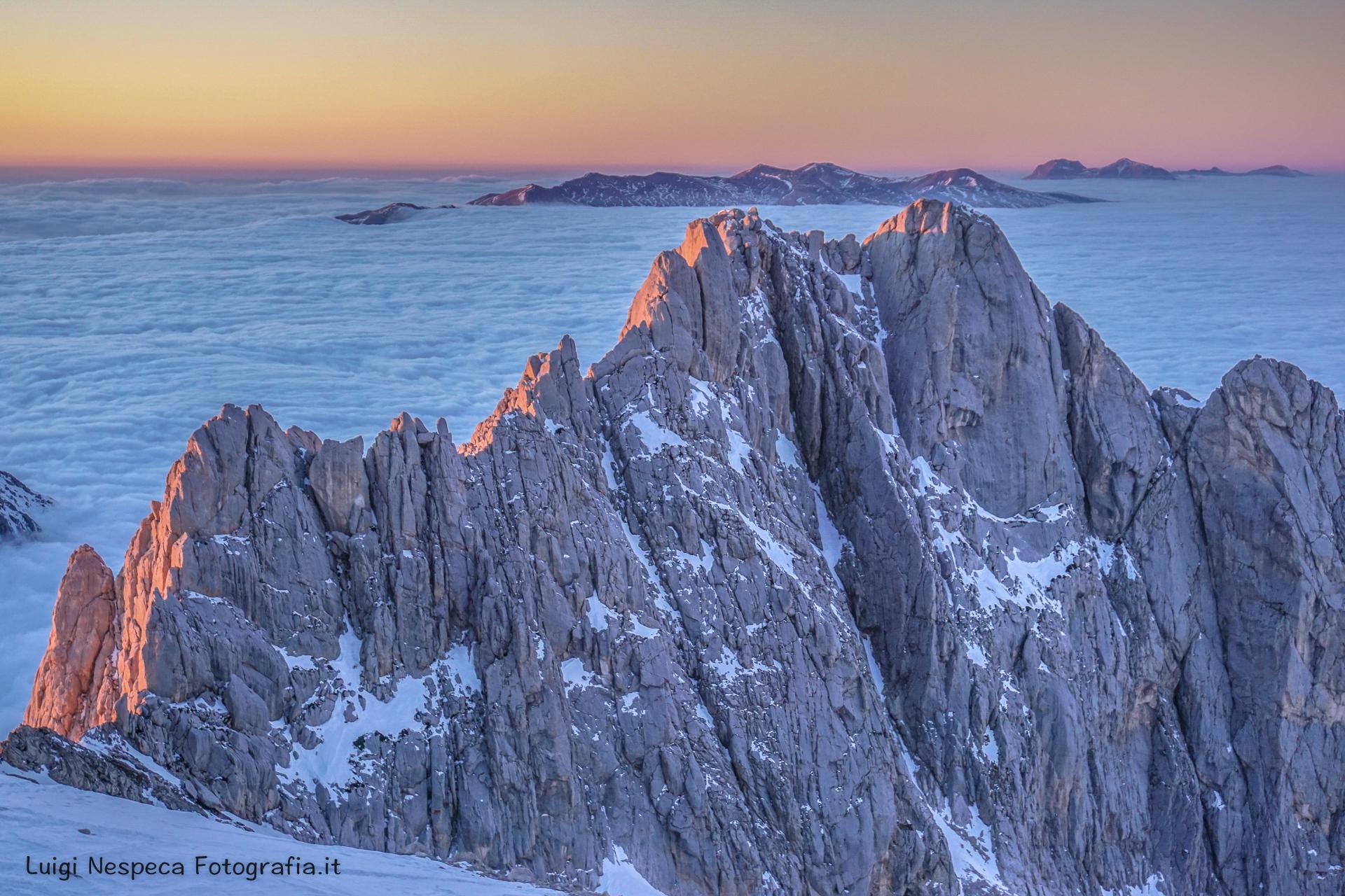 Nuvole - freddo - Gran Sasso - Corno Piccolo - Inverno