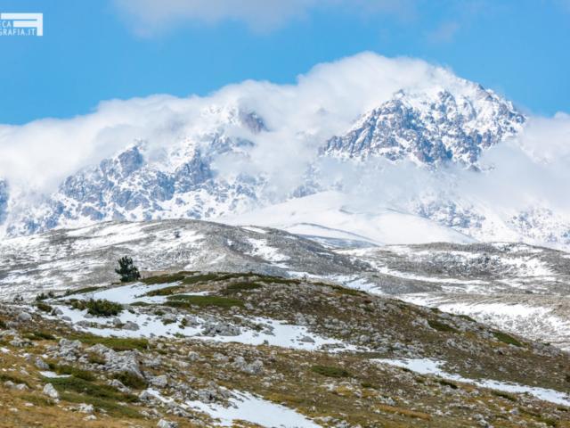 Monte Prena e la prima neve - Campo Imperatore Gran Sasso