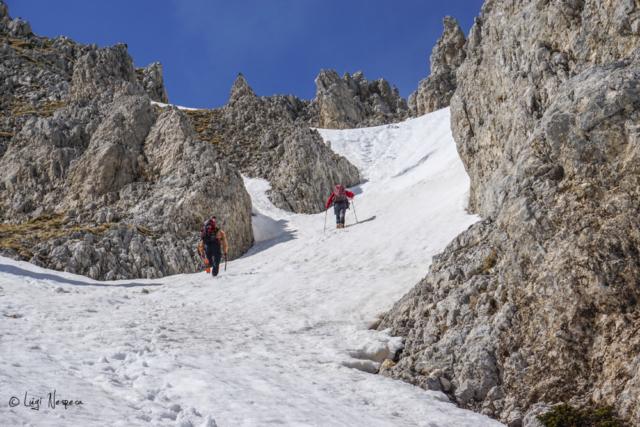 Il Monte Sirente: verso la selletta Majori