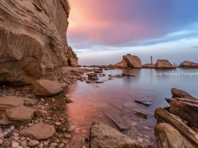 Tramonto di scirocco: Punta di Acquabella, Ortona (CH)