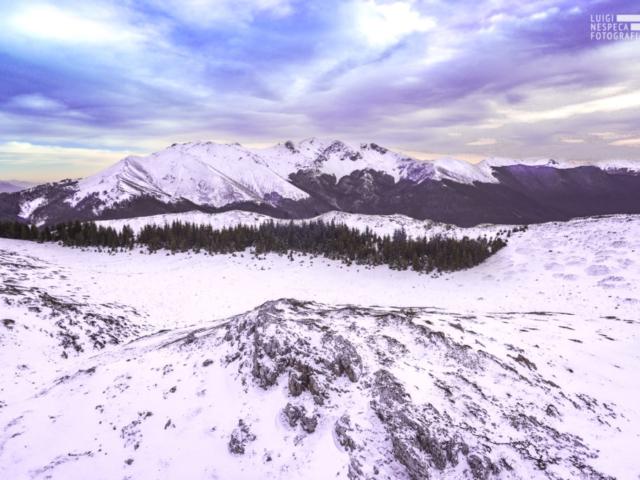 Monte Viglio al tramonto da Monte Viperella (Monti Simbruini)