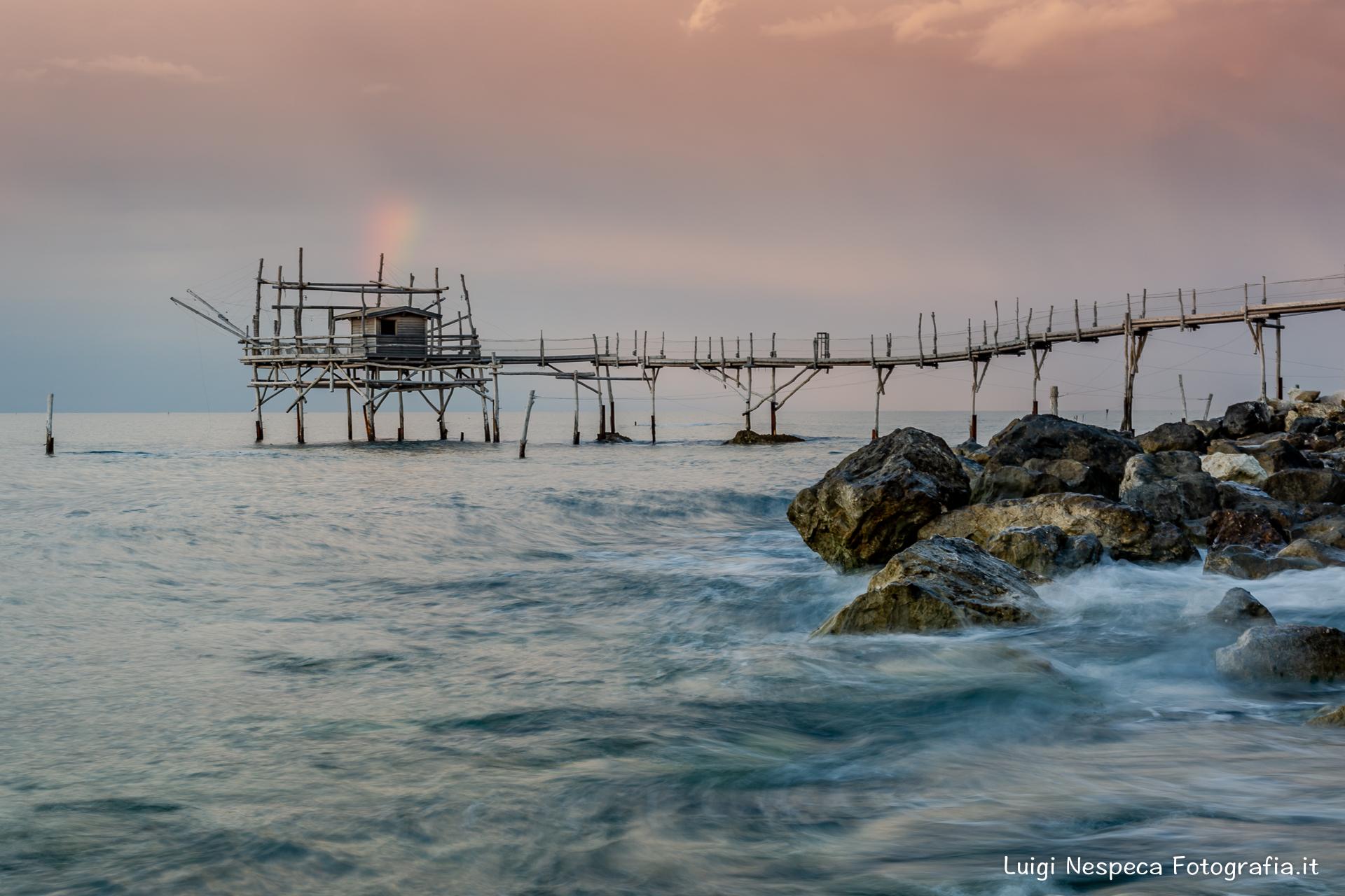 Costa dei Trabocchi: tramonto estivo al Trabocco Turchino - San Vito (CH)