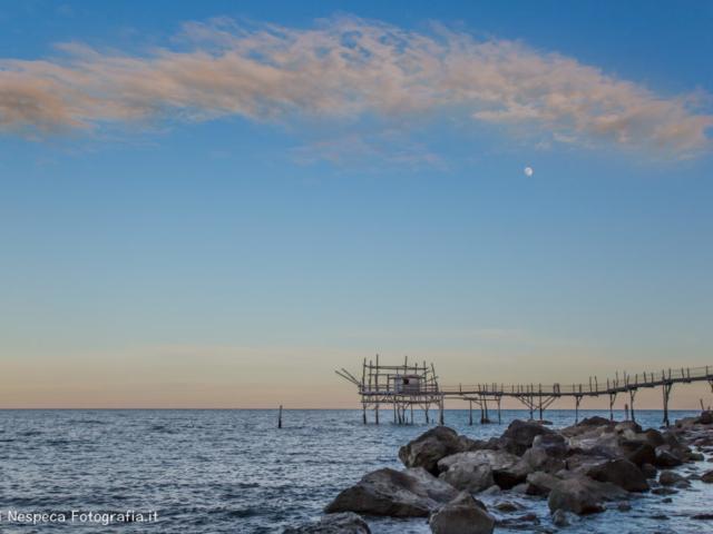 La Costa dei Trabocchi - Un nuvola d'inverno sul Trabocco Turchino - San Vito (CH)