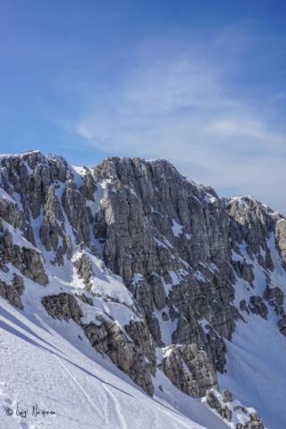 Il Monte Sirente: pareti di roccia