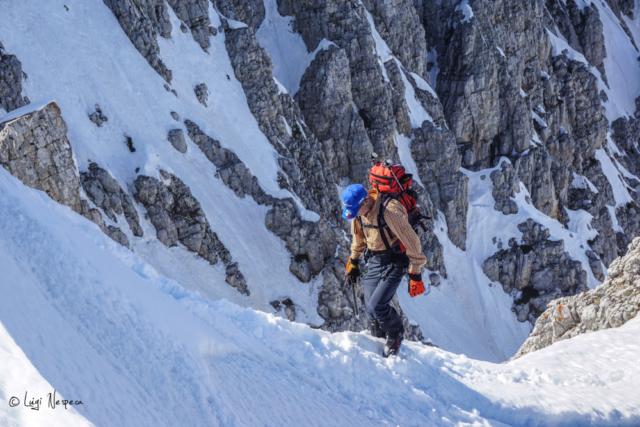 Il Monte Sirente: Alpinista Fabrizo esce in cresta