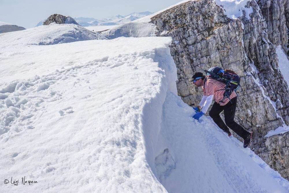Il Monte Sirente: Alpinista Luigi