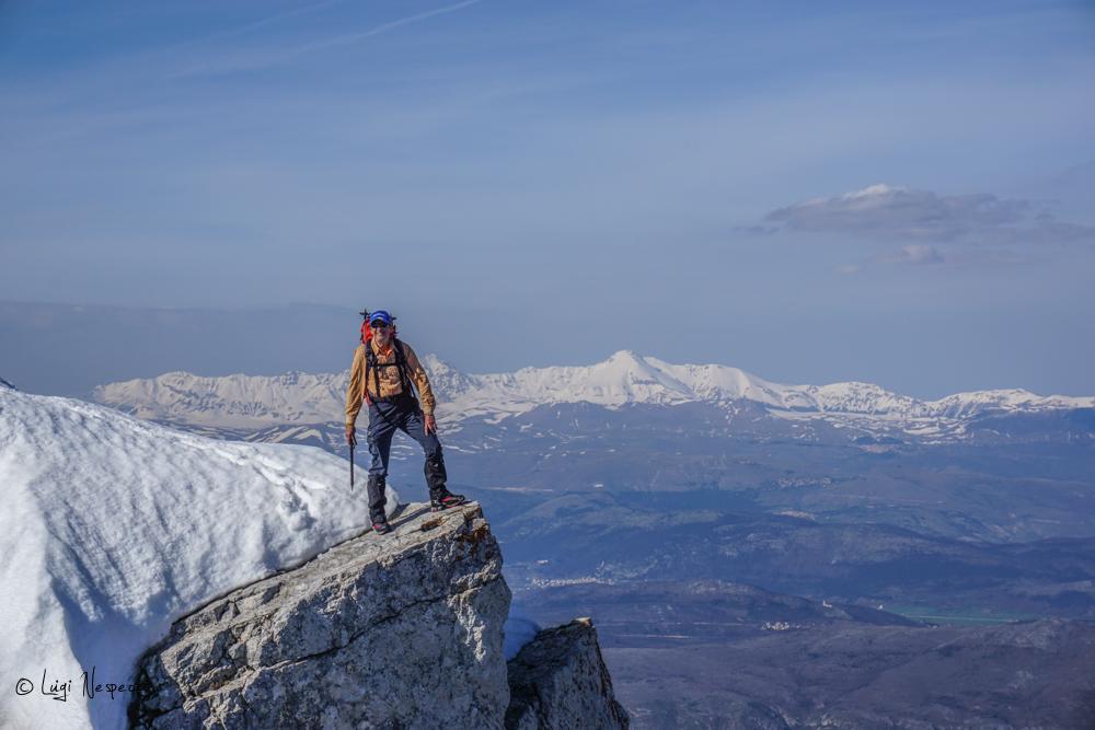 Il Monte Sirente: Alpinista Fabrizio