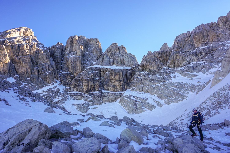 Gran Sasso: salita al Corno Grande - Comba glaciale