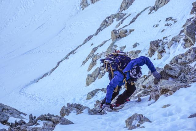 Gran Sasso: salita al Corno Grande - Ultimi passi prima di uscire in cresta