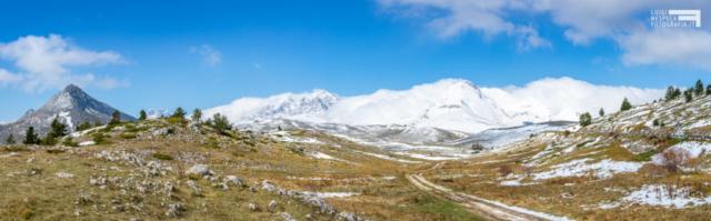 Monte Bolza e Campo Imperatore - Prime Nevi - Panoramica - Castel Del Monte (AQ) - Parco Nazionale del Gran Sasso
