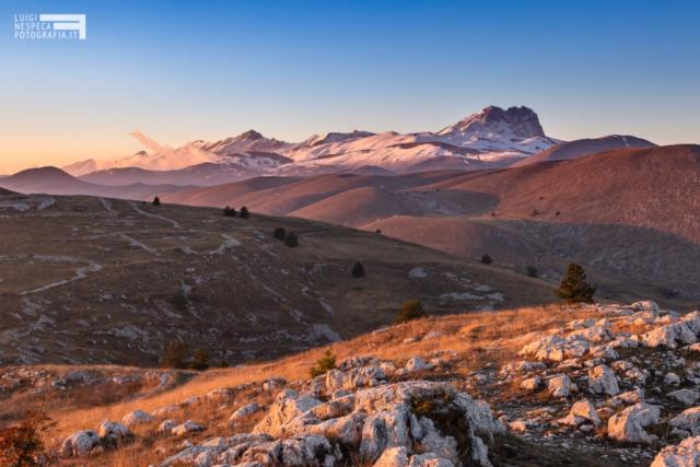 Tramonto da Rocca Calascio - Campo Imperatore - Parco nazionale del Gran Sasso