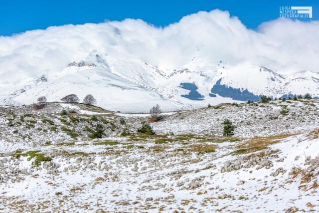 Monte Camicia - Campo Imperatore - Prima neve - Parco nazionale del Gran Sasso