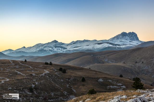 Corno Grande e le prime nevi al tramonto - Parco nazionale del Gran Sasso