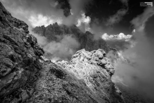 30 - Il Corno Piccolo dalla via Ferrata Ricci - Gran Sasso