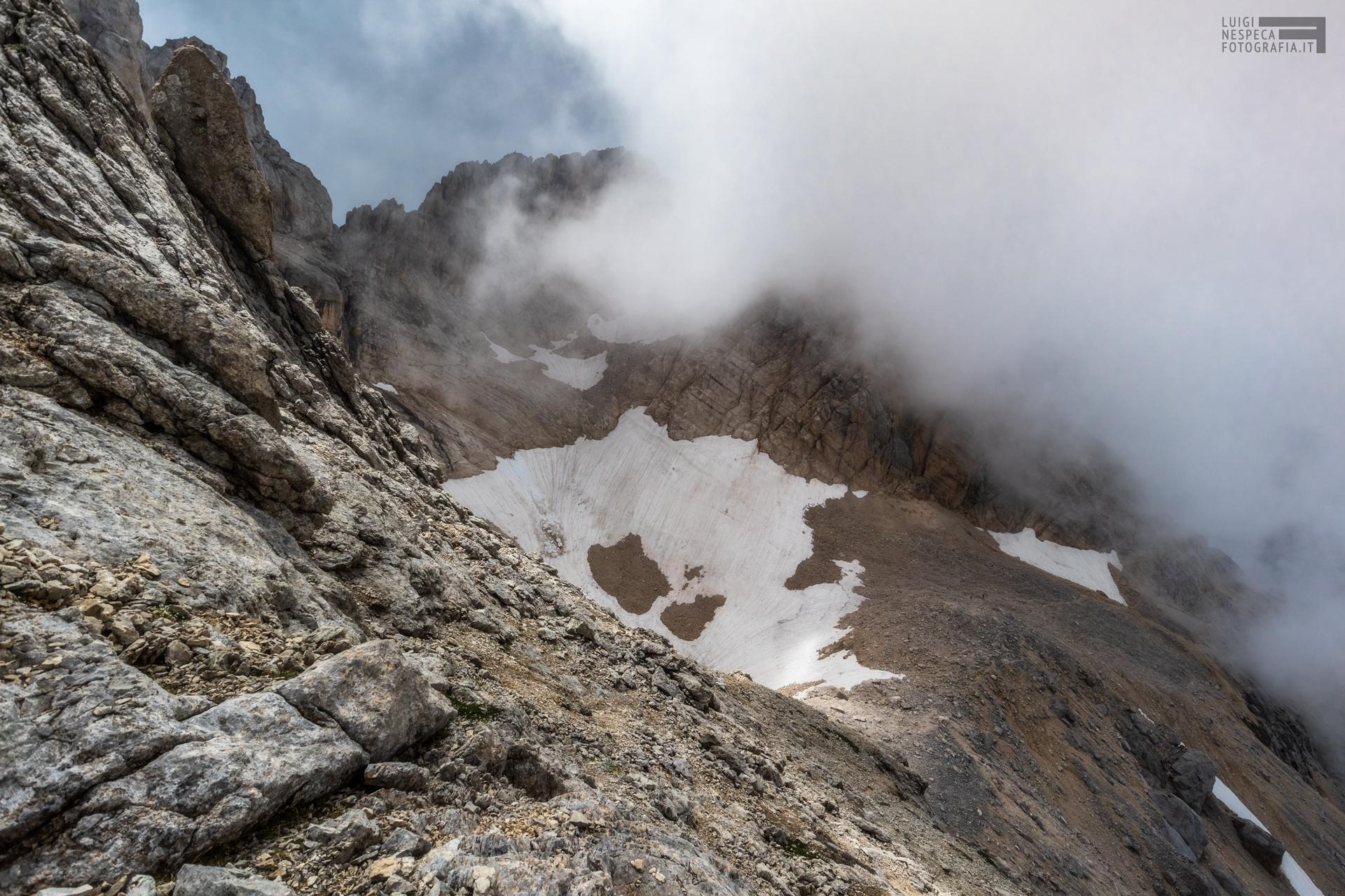 15 - Il ghiacciaio del Calderone al Corno Grande - Un anno al Gran Sasso