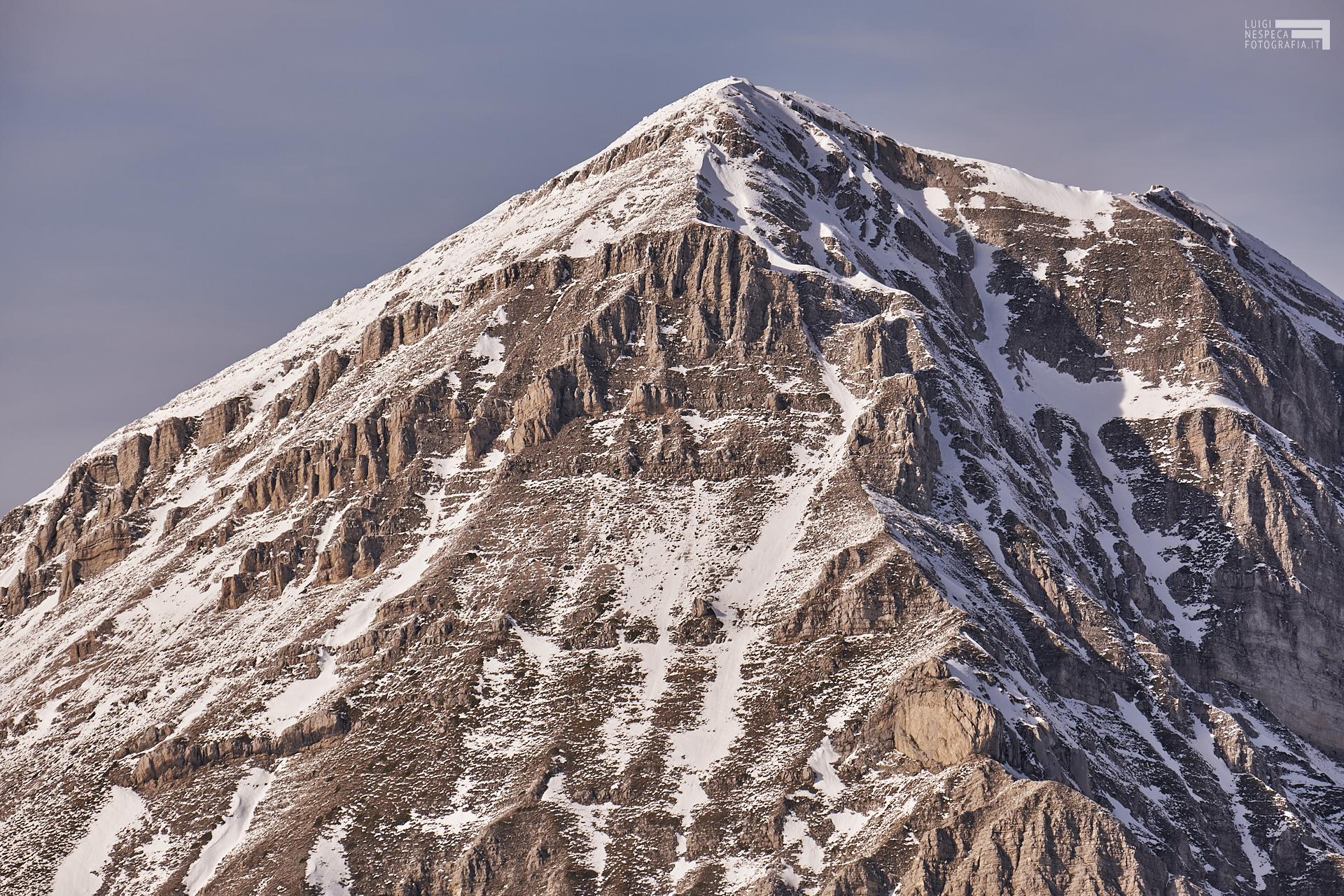 Tramonto dalla cresta del Portella - Pizzo d'Intermesoli - dettagli