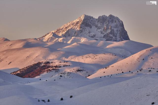 Corno Grande al Tramonto - Vista da Rocca Calascio