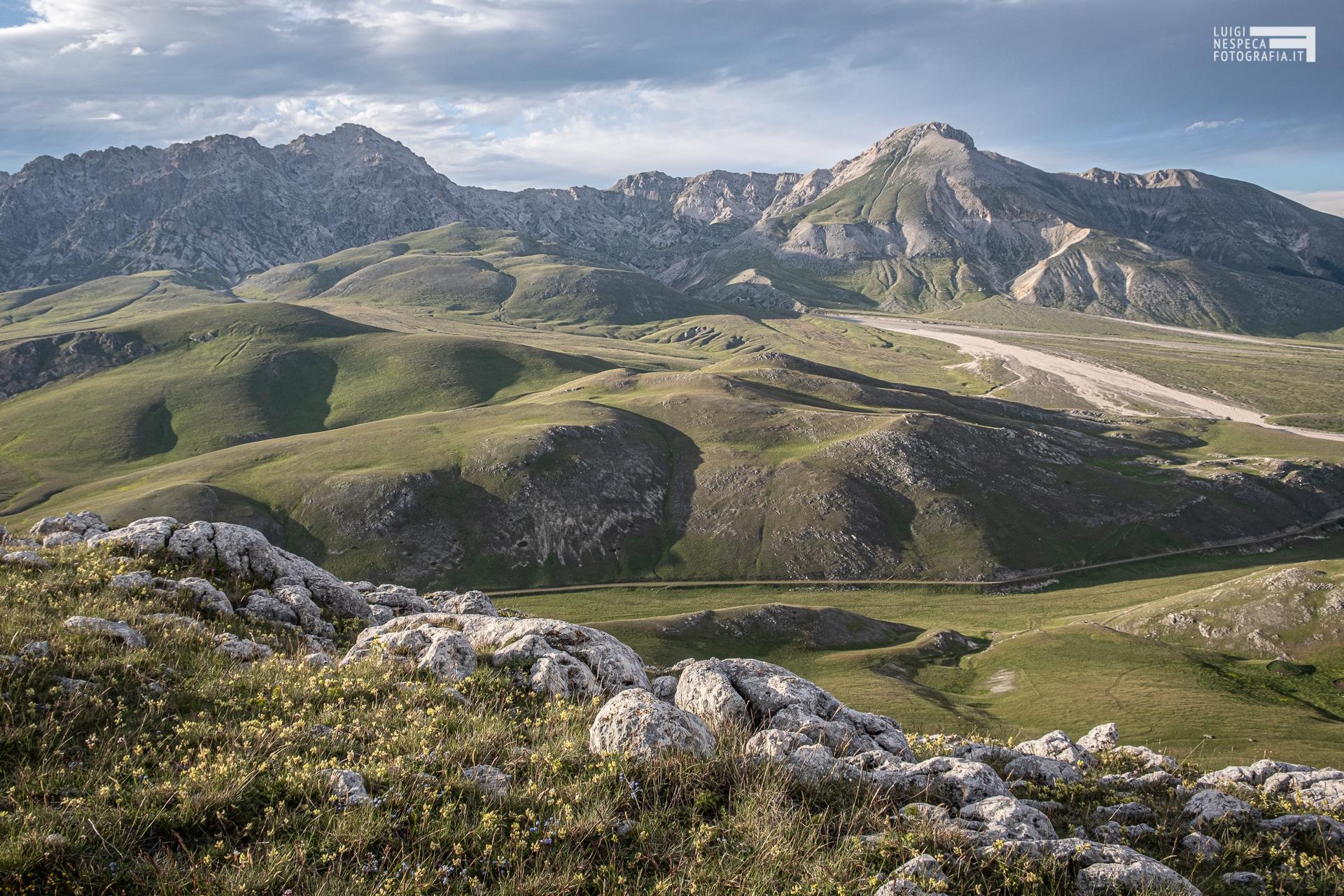 Monte Prena e Monte Camicia - vista dal Monte Bolza