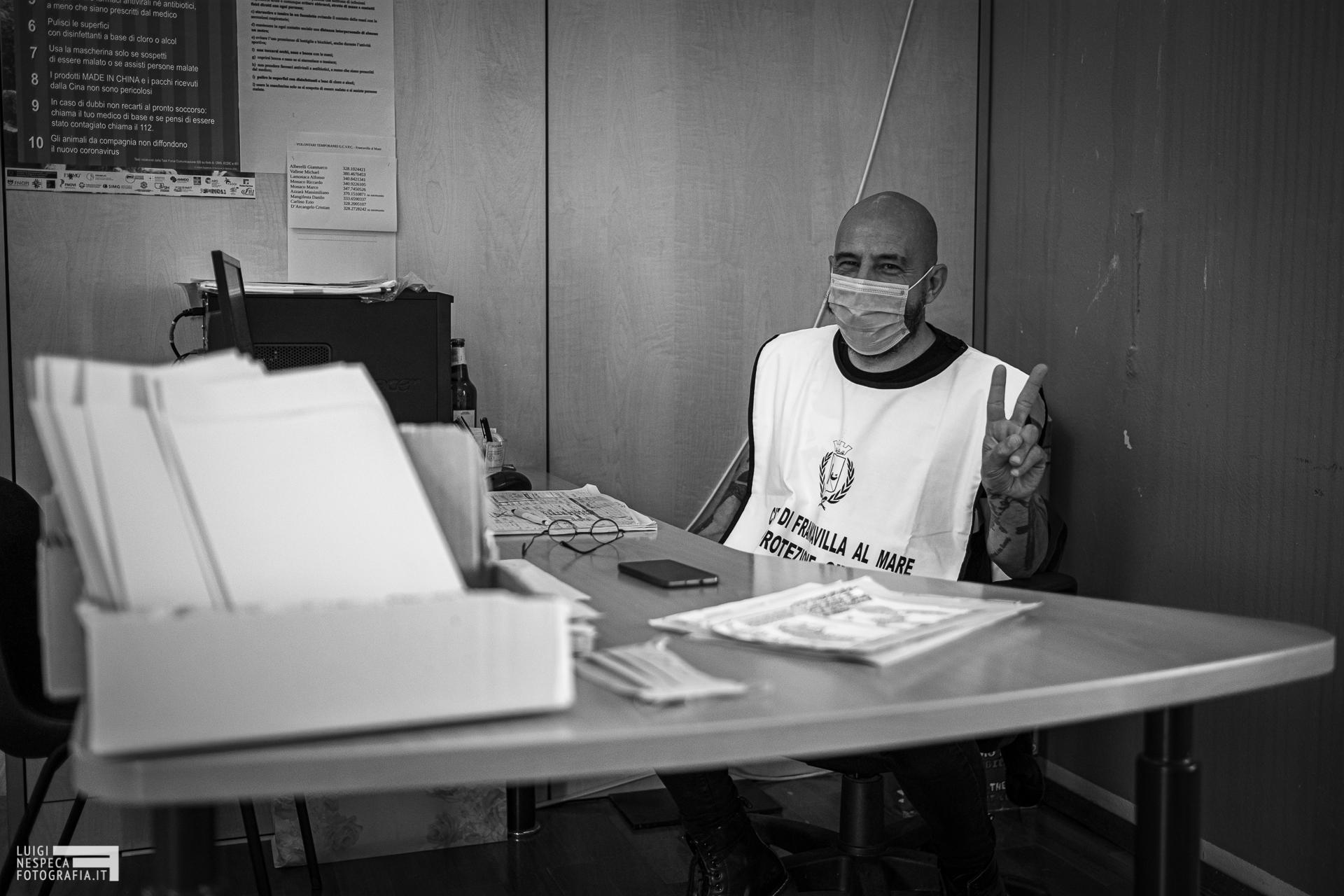 Francavilla al Mare - i volontari della Protezione Civile