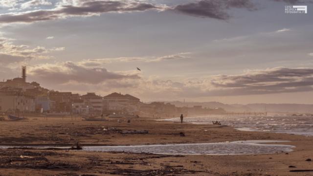 La spiaggia di Francavilla al Mare: poche ore prima della FASE II