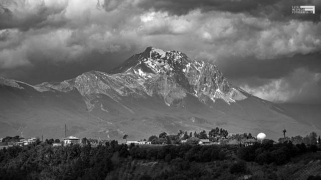 Le montagne viste dalla campagna di Francavilla al Mare: Il Monte Camicia