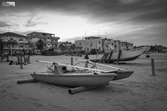 Poche ore prima del Lockdown - La  spiaggia alla Rotonda Michetti - Francavilla Sud