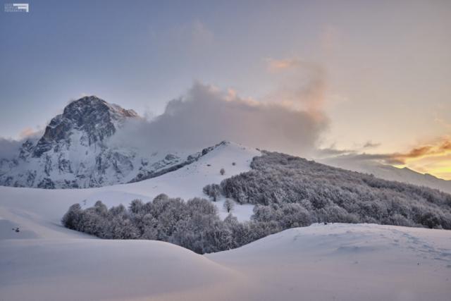 14 - Il Corno Grande al crepuscolo - Cima Alta - Marzo '21