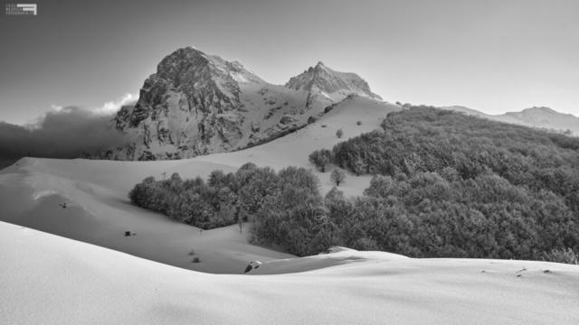 20 - Il Corno Grande e il Corno Piccolo manto invernale - Cima Alta - Marzo '21