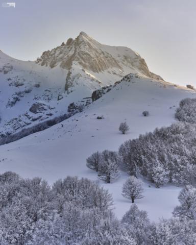 17 - Il Corno Piccolo al tramonto - Cima Alta - Marzo '21