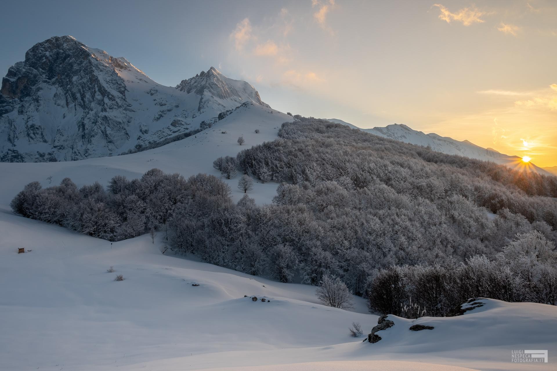23 - Ultimo sole al Gran Sasso - Cima Alta - Marzo '21