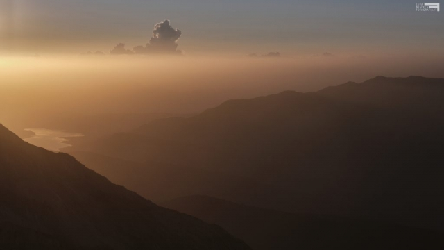 Luglio 2021 - Tramonto dalla Conca degli Invalidi - Lago di Campotosto - GRAN SASSO