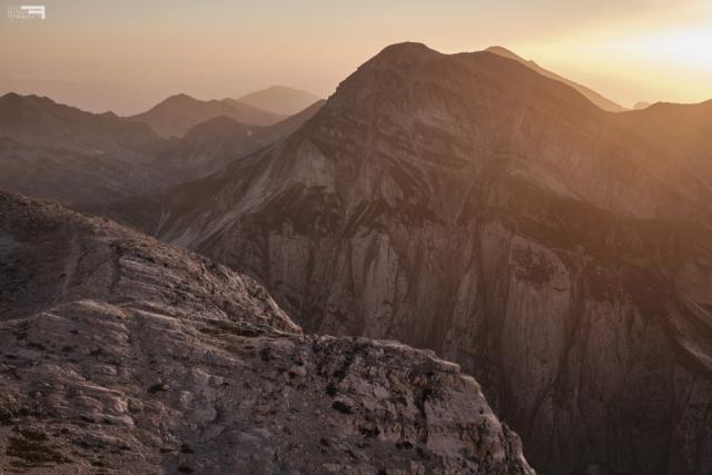Luglio 2021 - Tramonto dalla Conca degli Invalidi - Pizzo d'Intermesoli - GRAN SASSO