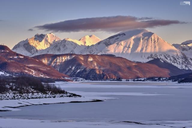 Febbraio 2021 - Il Gran Sasso e il Lago di Campotosto