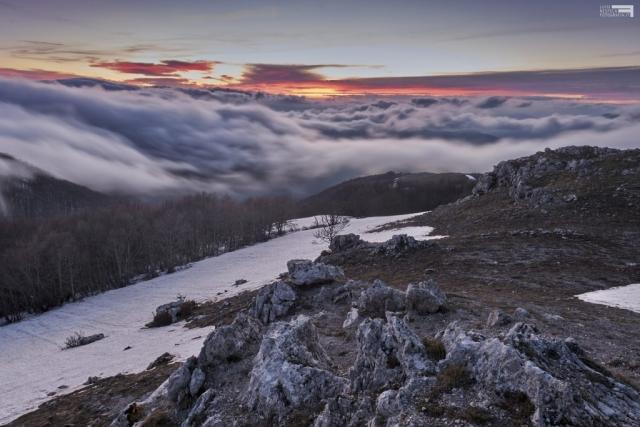 Maggio 2021 - Nubi sul Monte Autore - Monti Simbruini