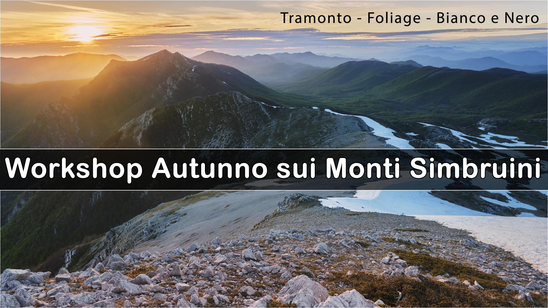 Workshop autunno sui Monti Simbruini 2021